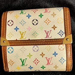 Louis Vuitton Blanc Multicolor Mono wallet